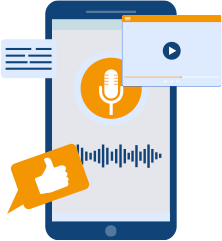 Recommend Text Infographic Audio and Video