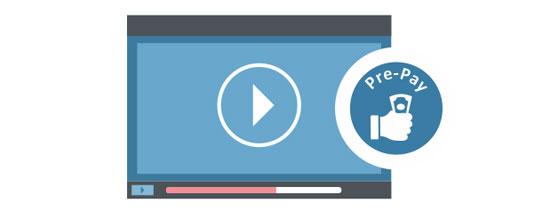 pre-pay video monetization platform