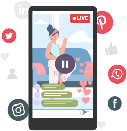 Stream Workout Sessions on Social Media