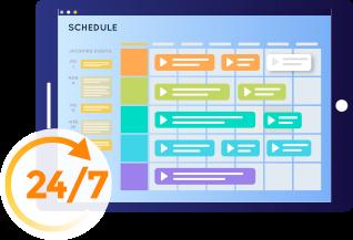 Schedule 24x7 Programs