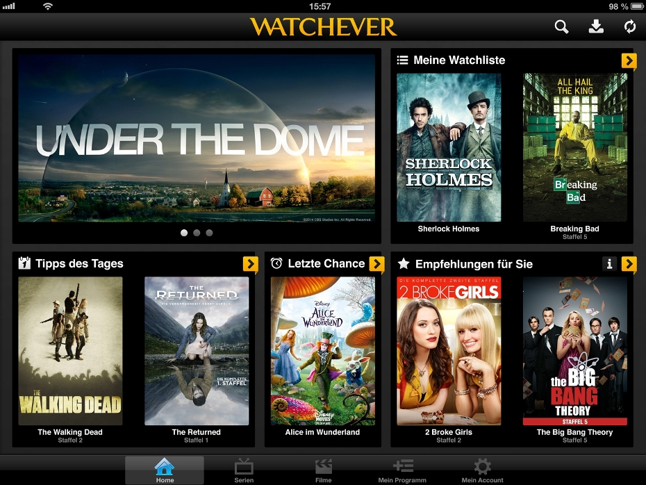 Watchever-Screenshot-iPad