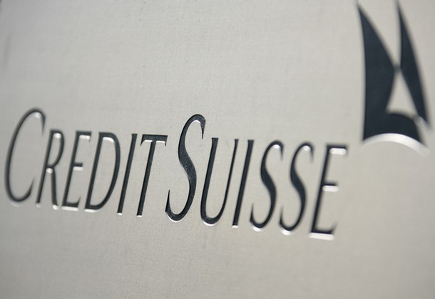 A picture shows the logo of the Credit Suisse bank in Zurich