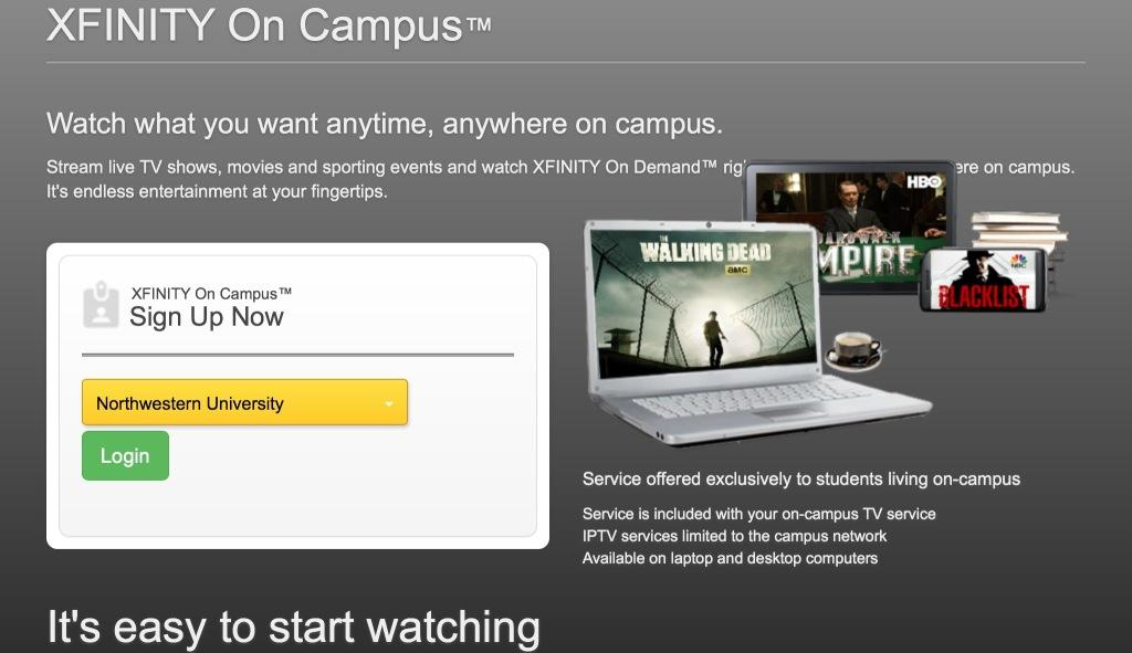 Comcast Trying To Hook College Cord Cutters With Campus TV Deal