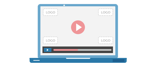 custom video player logo