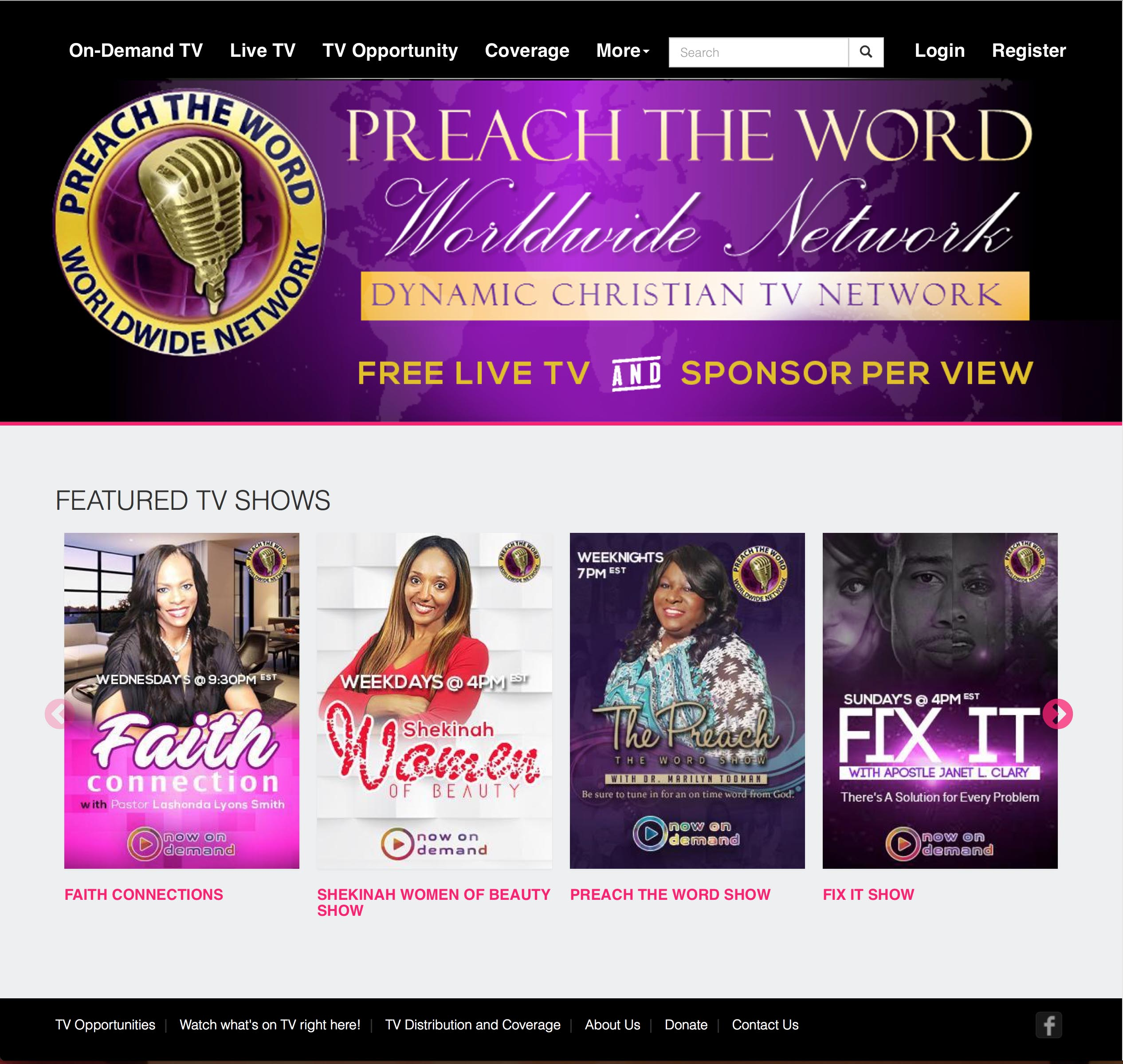 Faith based Preach The Word Worldwide Network TV (PTWWN TV) Launches its Video Streaming Website powered by Muvi