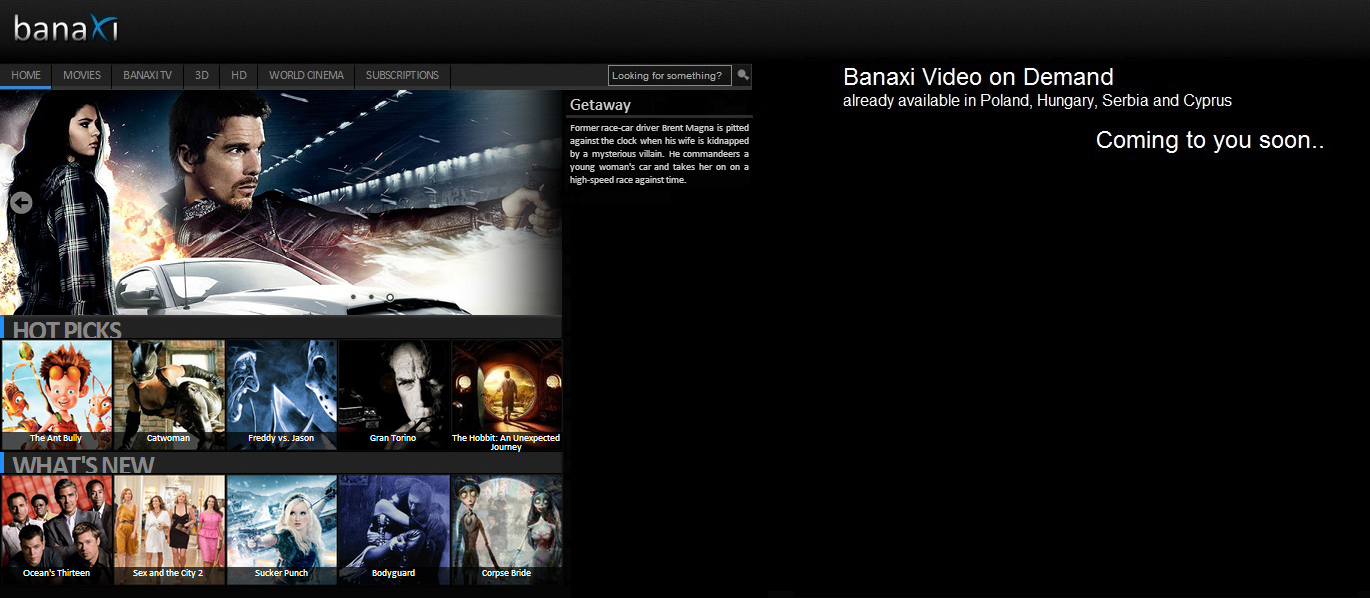 Banaxi VOD Service goes Global