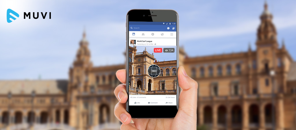 Facebook allows Live 360-Degree Video Streaming