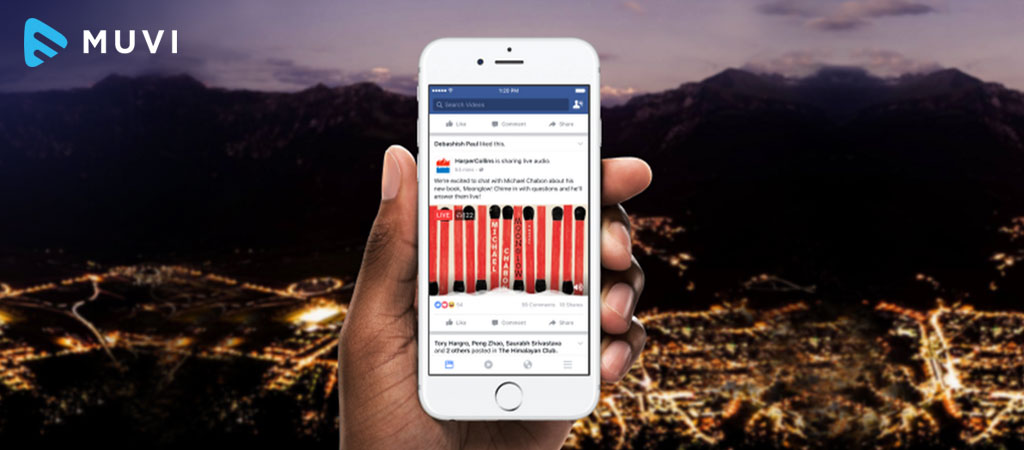 Facebook launches Live Audio Streaming