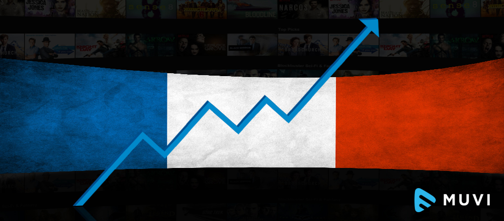 Video on demand rising among the French