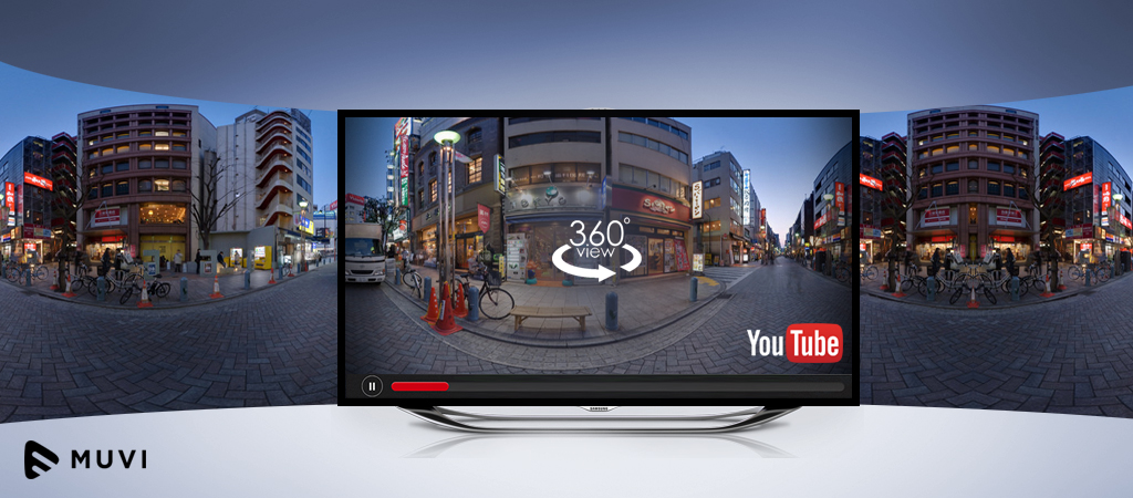 YouTube launches 360-degree video on the big screen