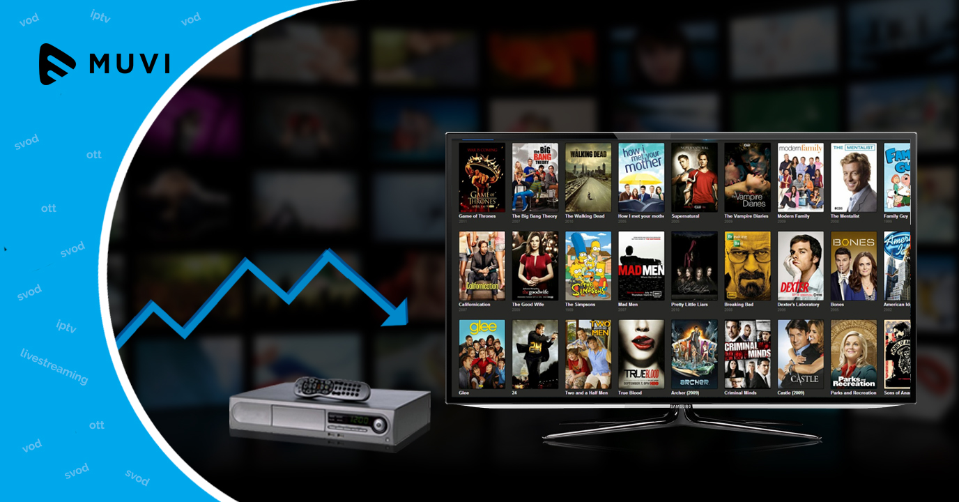 Pay-TV service subscriptions drop to below four-fifths