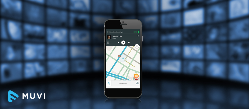 iOS includes Waze and Spotify integration