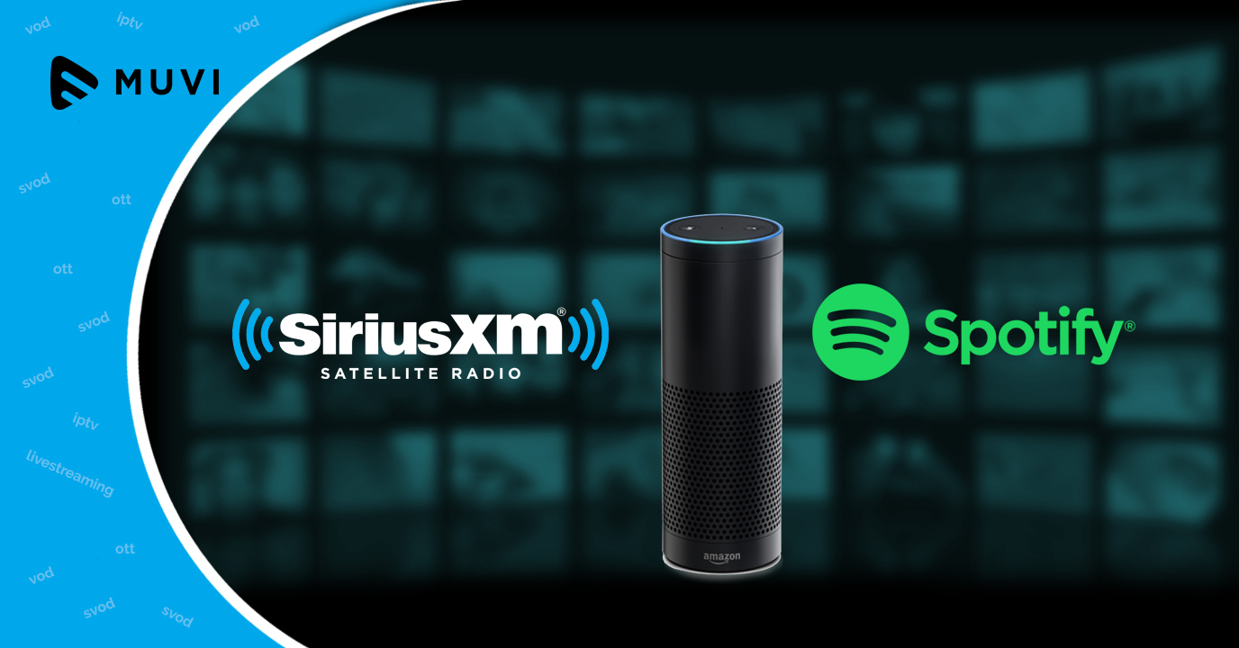 Amazon Echo now supports SiriusXM and Spotify