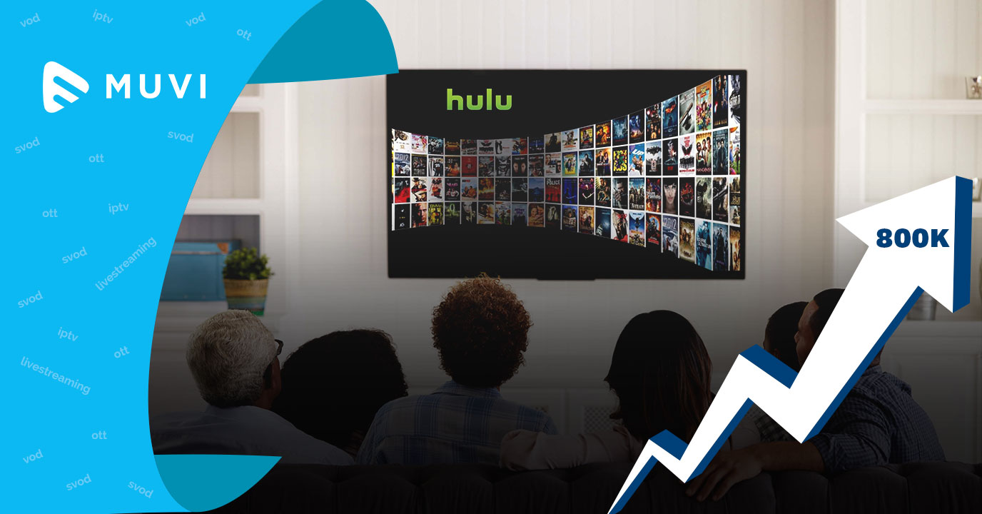 Hulu's Live TV subscriber base rises to 800K
