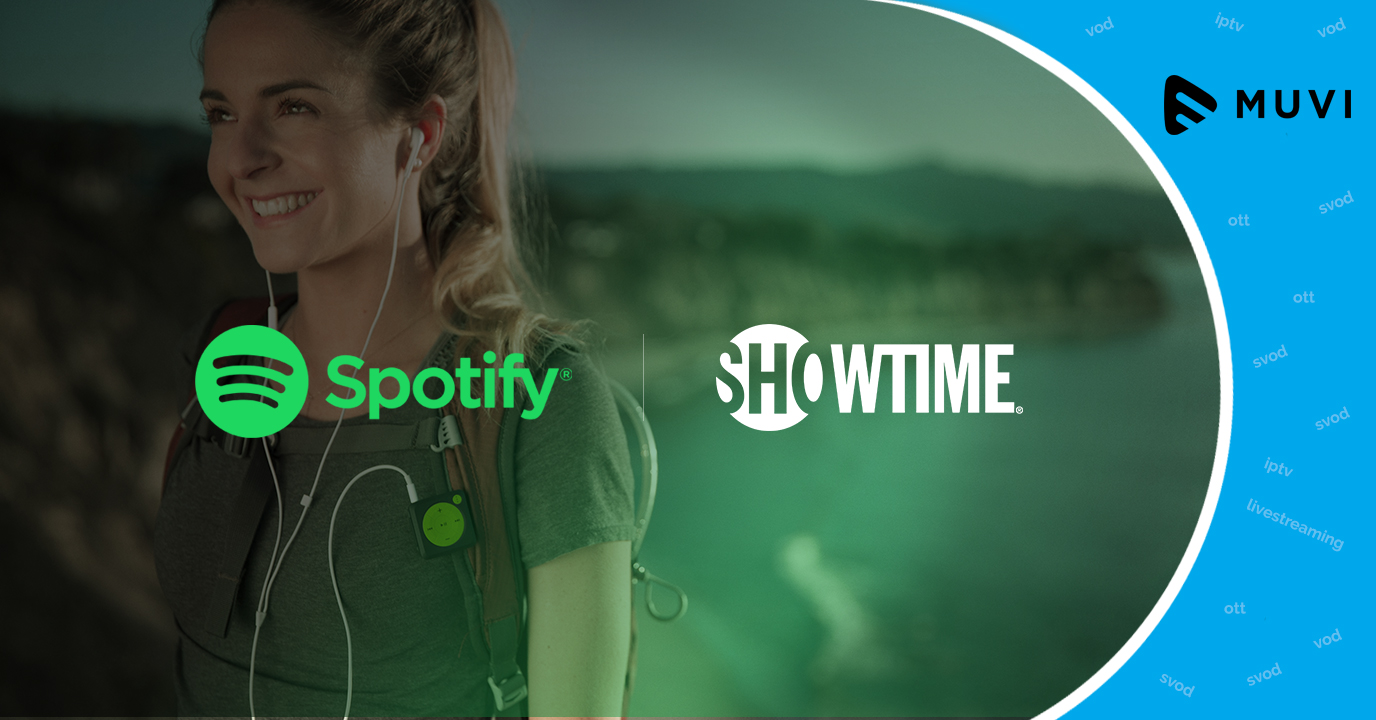 Music streaming platform Spotify join forces with Showtime