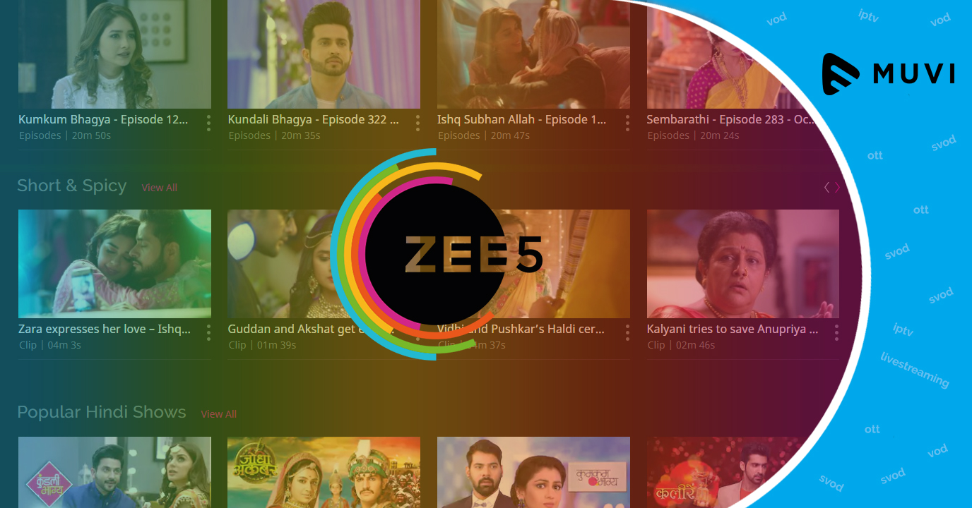 SVOD service ZEE5 goes global - Muvi
