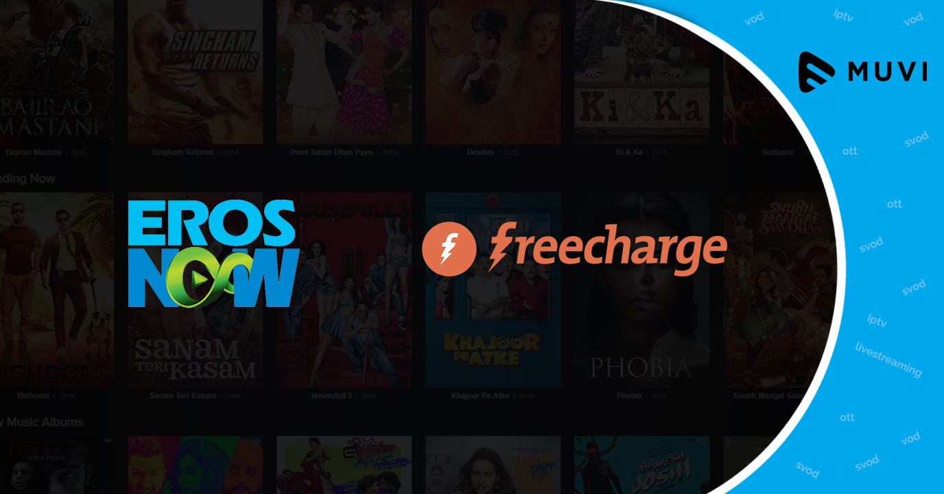 Video on demand player Eros Now announces partnership with FreeCharge