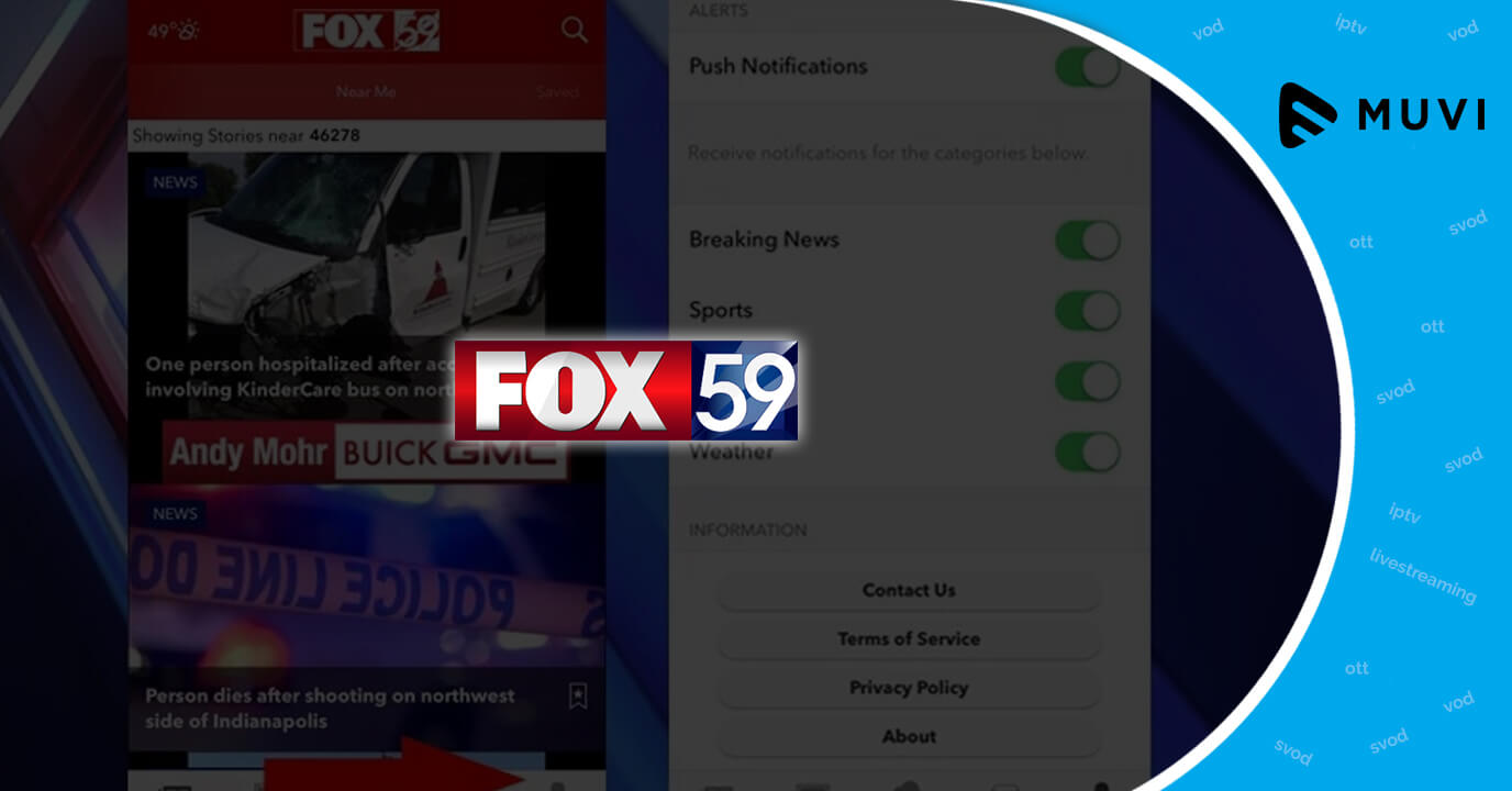 Watch FOX59's Videos on Demand through Streaming Devices