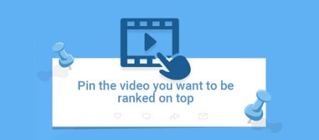 Pin video to rank on top