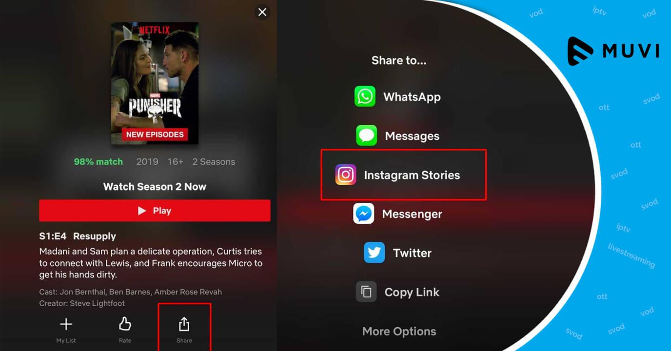 Recommendation of Netflix Shows through Instagram Stories