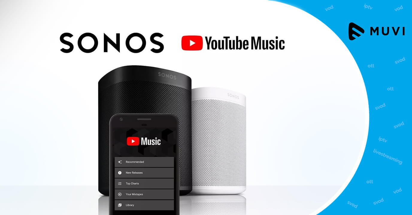 YouTube Music can now be streamed through Sonos App
