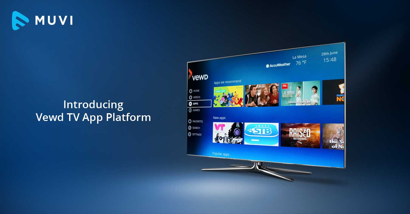 Muvi launches its 10th Mobile & TV app platform - Vewd TV app