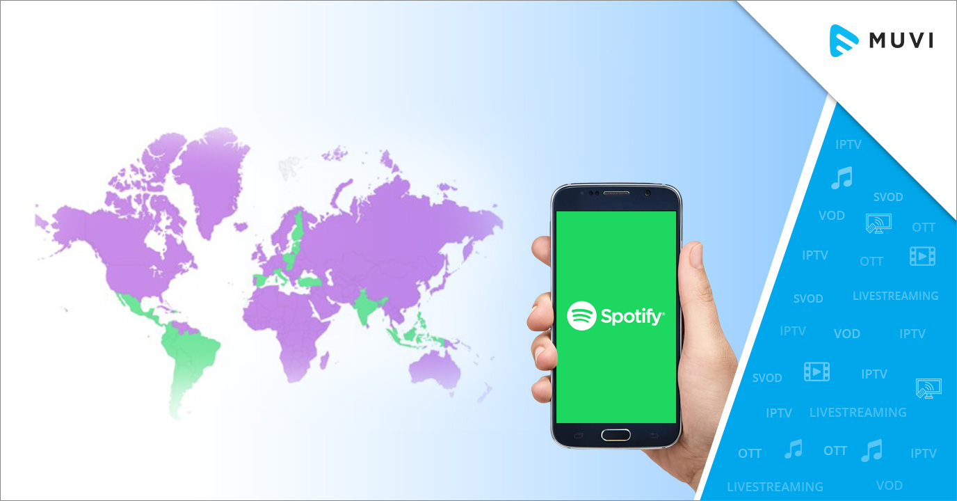 Spotify consistently dominates in new markets