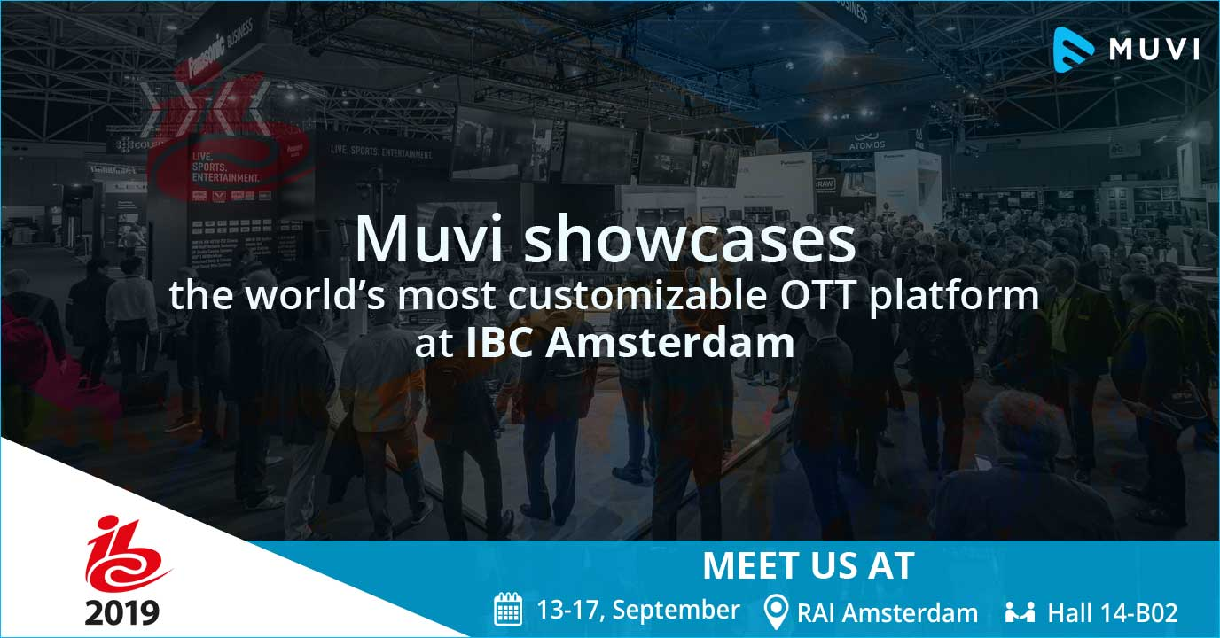 Who should meet Muvi at IBC Amsterdam 2019?