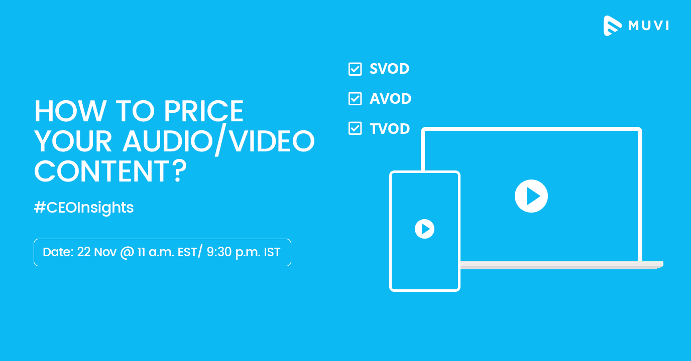 "Webinar on ""How to Price Your Audio/Video Content"""