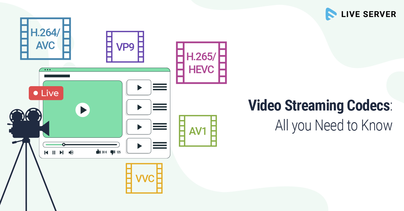 Video Streaming Codecs & Container Formats: All you Need to Know