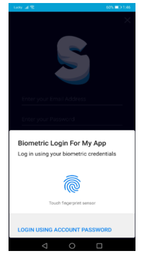 activate the Fingerprint or Face ID