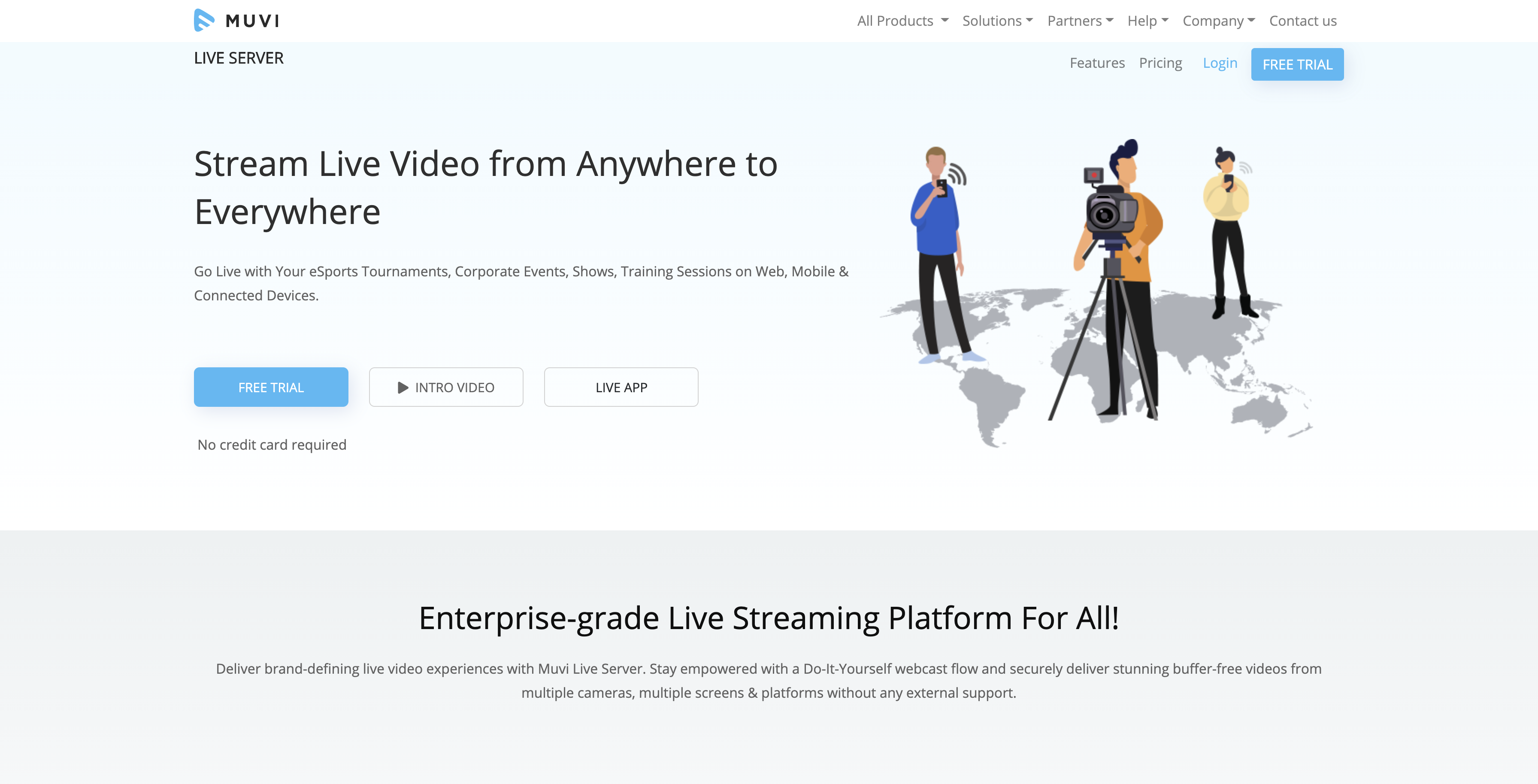 live stream with muvi live app