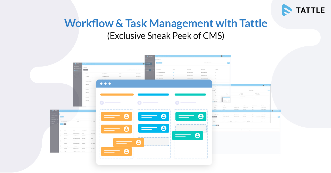 Workflow & Task Management with Tattle (Exclusive Sneak Peek of CMS)