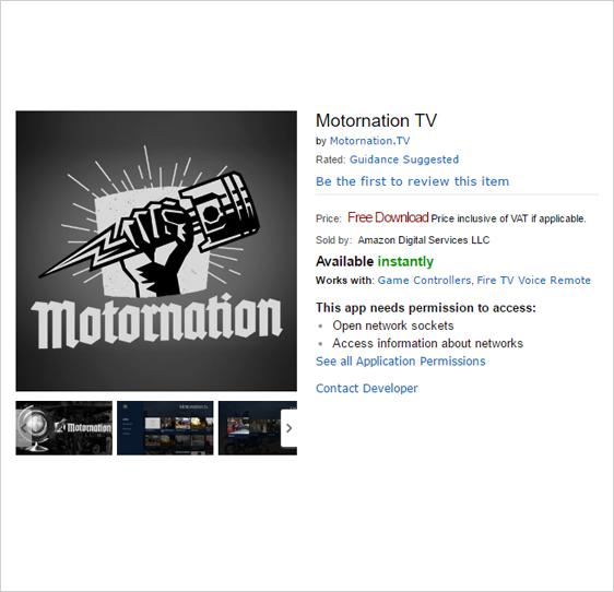 motornation Fire TV App