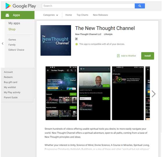 New Thought Channel Android