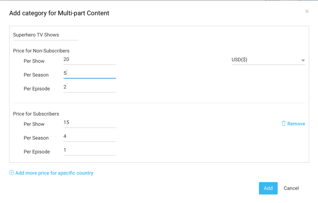 Add PPV category for Multi Part Content